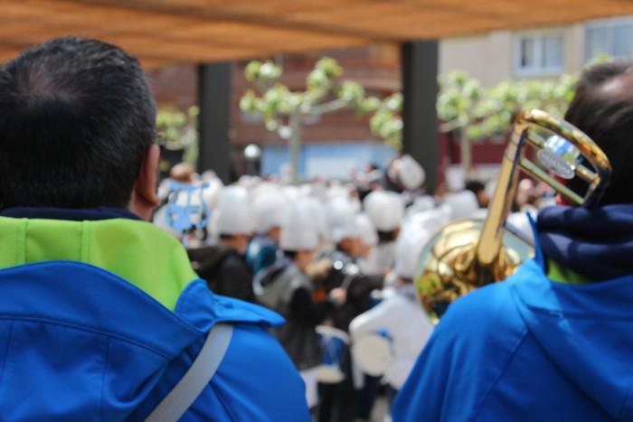 San Anton plazan egin dute umeek San Prudentzioko danborrada - 19