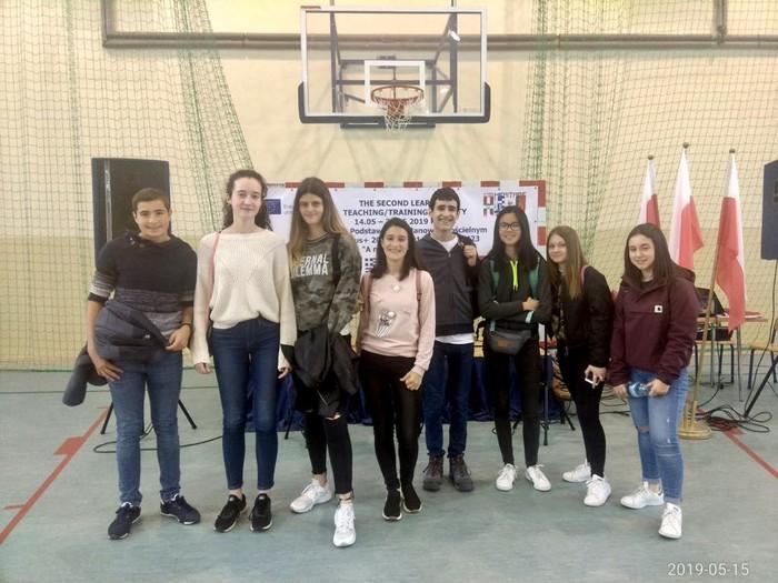Polonian daude Laudio BHIko zenbait ikasle, Erasmus+ programarekin  - 4