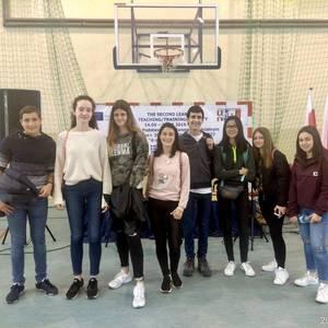 Polonian daude Laudio BHIko zenbait ikasle, Erasmus+ programarekin