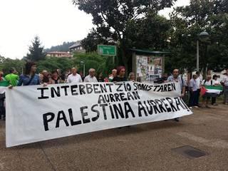Palestinaren aurkako erasoa salatzeko elkarretaratzea