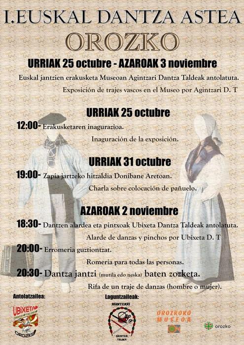 Ubixeta dantza taldeak Orozkoko I. Euskal dantza astea antolatu du