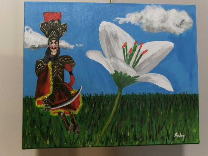 Pintura klaseetan eginiko beharren erakosketea dago museoan - 4