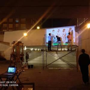 Erabakitzeko eskubidearen aldeko murala egin dute Laudion, maiatzaren 6ko galdeketari begira