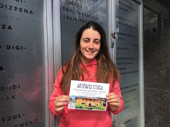 Jone Sarachaga Berganzak irabazi du Artiñano Etxean 2 lagunentzako egonaldia