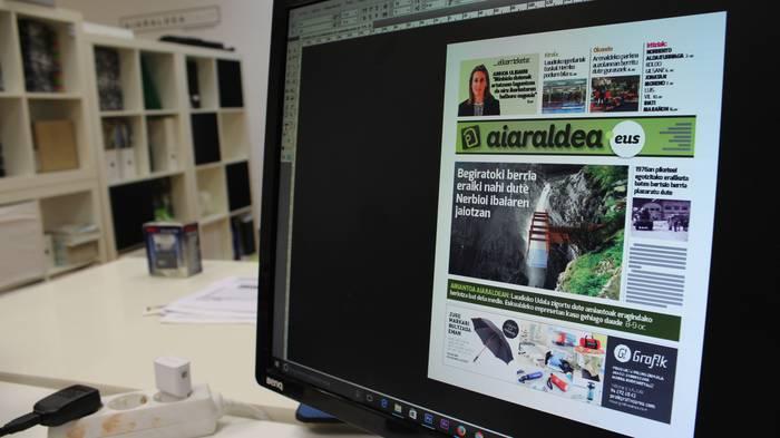 Amiantoa, igeriketa eta Santiago mendiko begiratoki proiektua hizpide biharko Aiaraldea Egunkarian