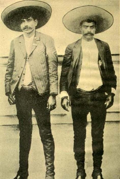 Pancho Villa eta Emiliano Zapataren ilobak Laudion