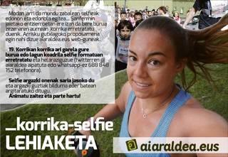 Korrika-selfie lehiaketa, parte hartu eta irabazi sari eder bat!