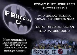 Mobilizazioa egingo du ostiralean Fracking Ez Aiaraldeak salatzeko Epaitegi Konstituzionalaren erabakia
