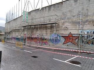Harategi kaleak 200 m2-ko mural artistikoa hartuko du