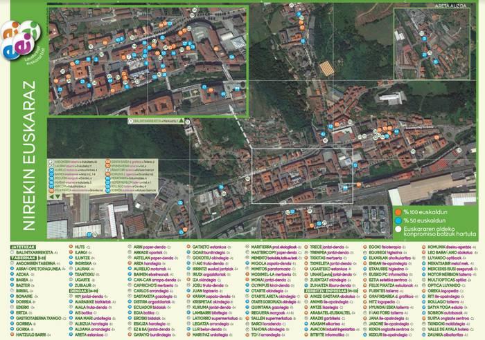 Laudiok euskararen mapa egin du inplikatu diren 132 eragilerekin