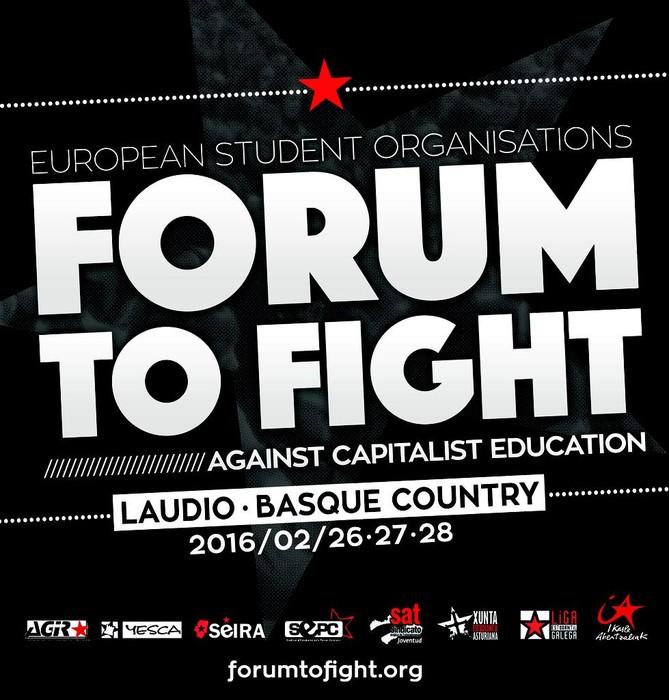 Forum To Fight ikasleen nazioarteko foroaren egitaraua aurkeztu dute