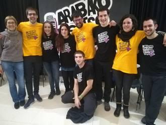Aramaioko taldea garaile, Kuadrilla arteko bertso txapelketako bigarren finalerdian