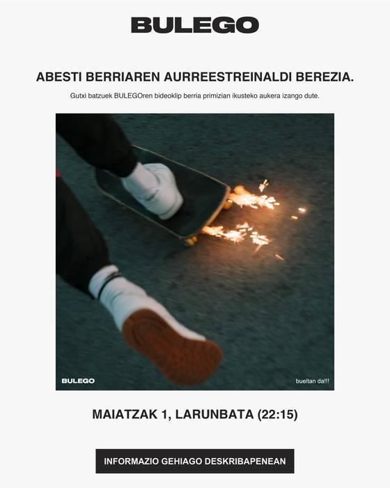 Bulego taldearen album berriko lehen abestia esklusiban entzun nahi duzu?