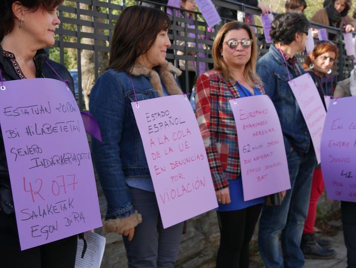 Indarkeria matxistaren aurka mobilizatu dira eskualde osoan - 12