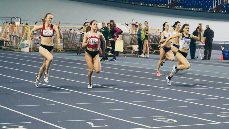 Naiane Bravo Llamosas atleta izan da Euskadiko Txapelduna 60 metrotan