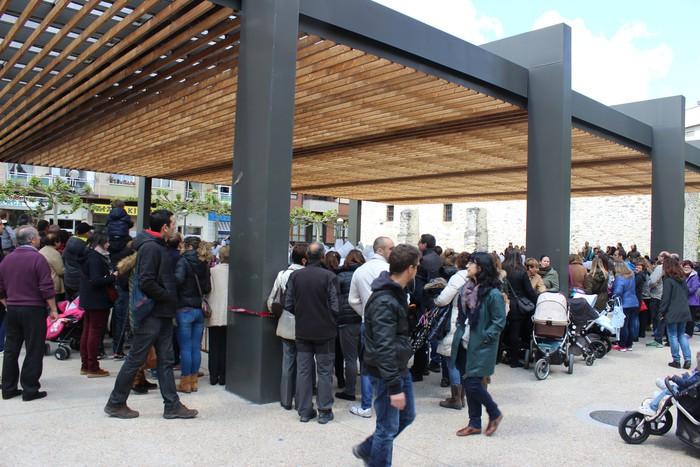 San Anton plazan egin dute umeek San Prudentzioko danborrada - 5
