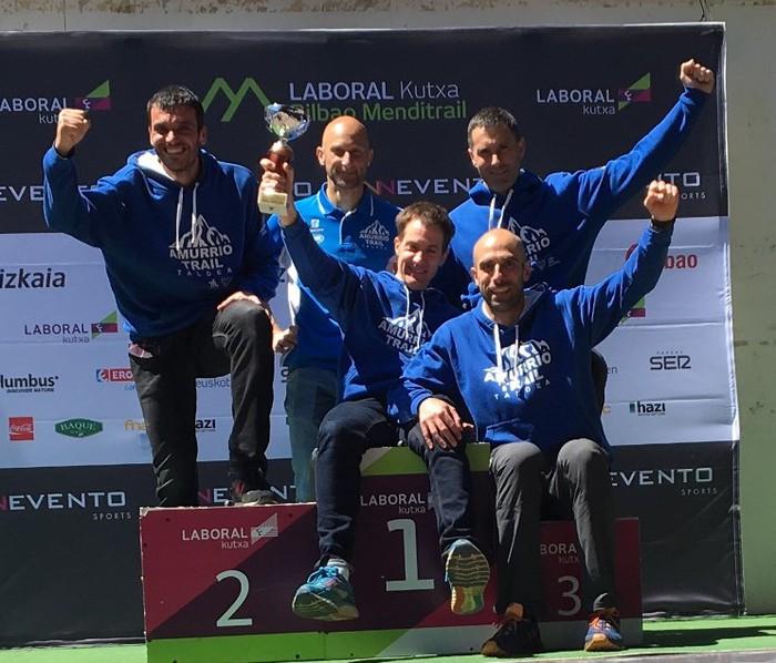 Amurrioarrek irabazi zuten Bilboko Traila taldekako kategorian