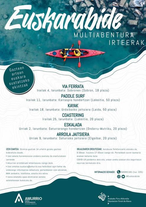 Euskarabide: Kayak